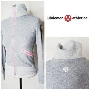 LULULEMON Rare Pink Grey Running Jacket